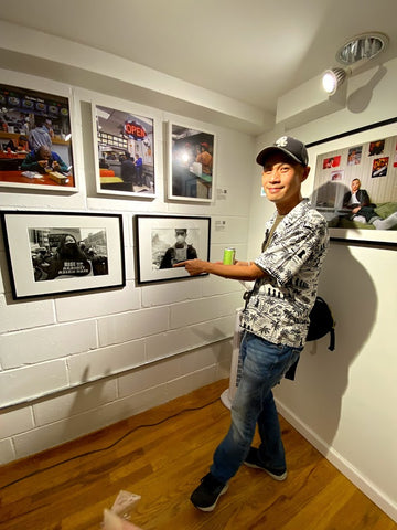 Photographer Ed Cheng with his photo