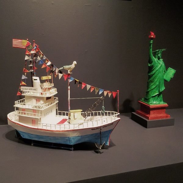 Ship and Statue of Liberty made with Golden Venture folding
