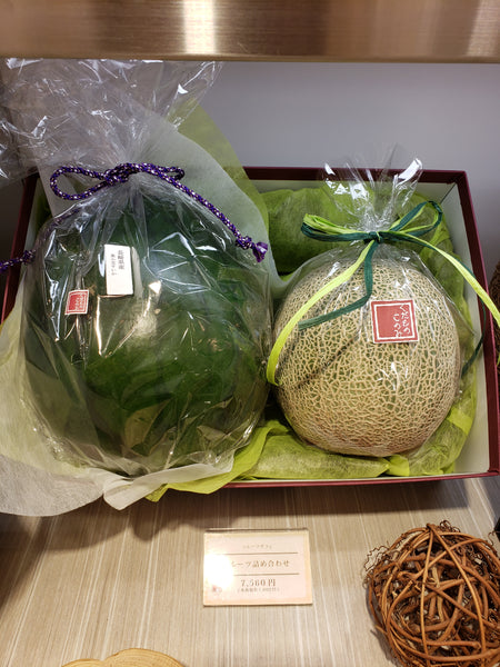 A set of two melons that cost $70
