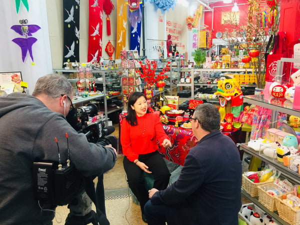 Joanne Kwong speaks to Roger Clark of NY1 about Lunar New Year traditions