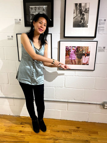 Photographer Karen Zhou with her picture