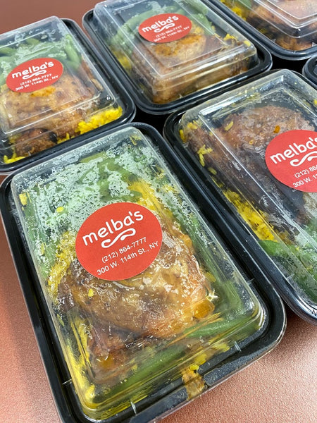 Takeout food from Melba's Restaurant