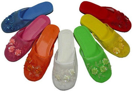 Colorful mesh slippers