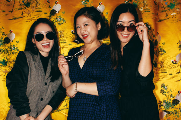 Joanne Kwong with Covry founders Athina Wang and Florence Shin