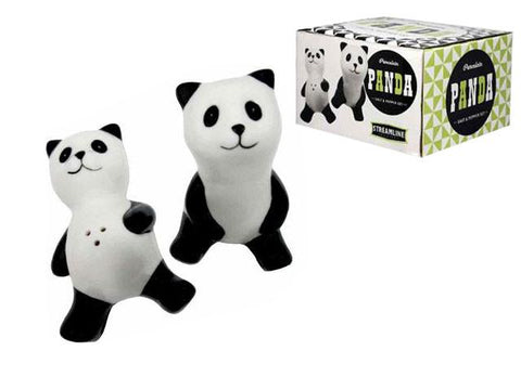 Adorable panda salt and pepper shakers