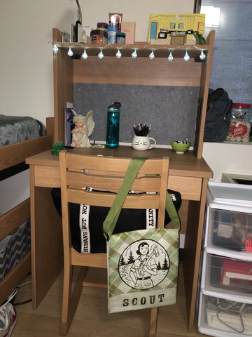 Ruby's items in her dorm room