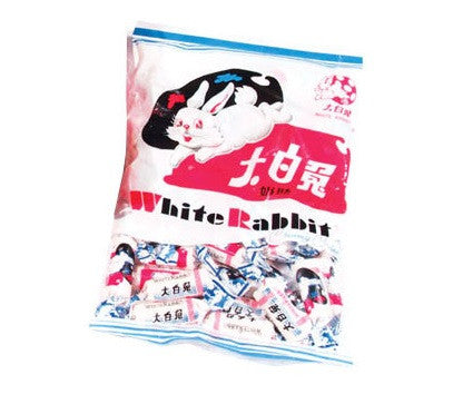 Bag of delicious White Rabbit candy
