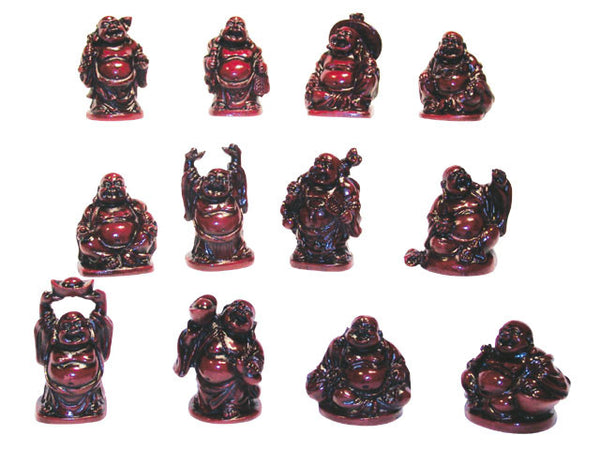 "Laughing Buddha - 1.5"" to 2""  (12 pcs Set)"