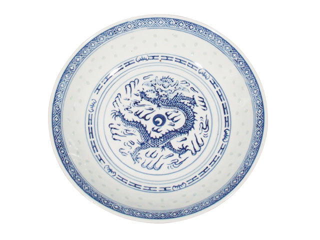 Classic Blue Rice Pattern - Dragon Plate