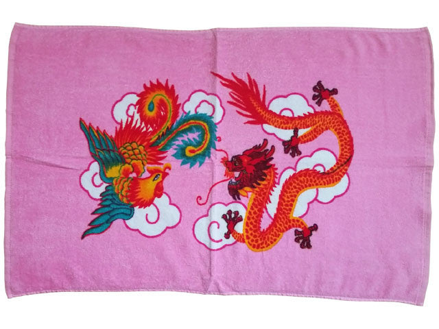 Dragon Phoenix Pillow Towel