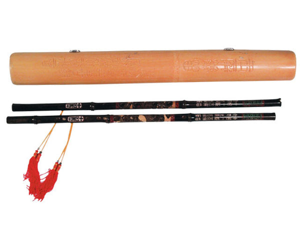 Bamboo Pair Flute w. Carring Case