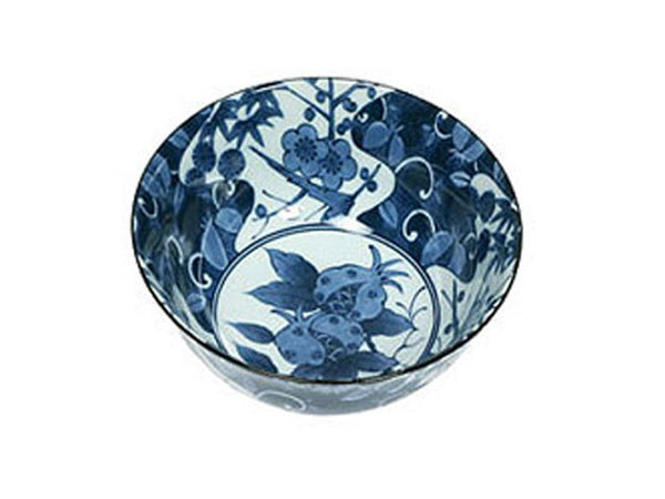 Shikunshi Pomegranate Design Bowl - 6 in.