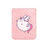 Supercute phone pocket with glittery pink surface and Pusheenicorn the cat