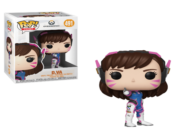Cool figurine of D.Va from the Overwatch video game, in and out of the box