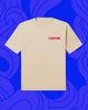 "Front of white T-shirt that says ""Chinatown"""