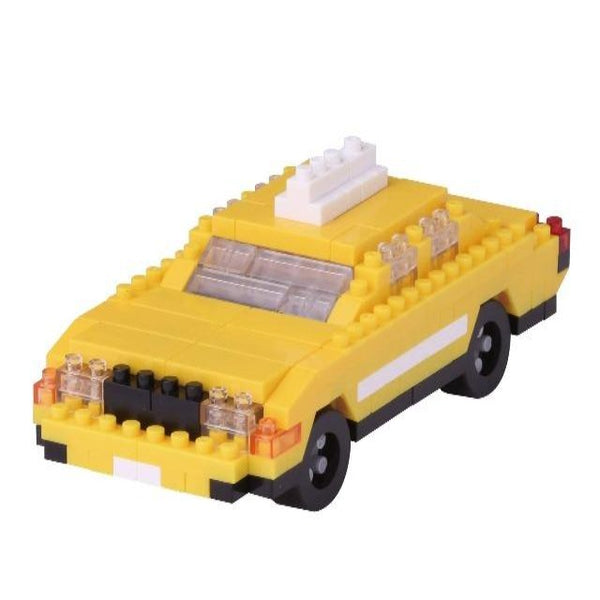 Nanoblock model of yellow taxi