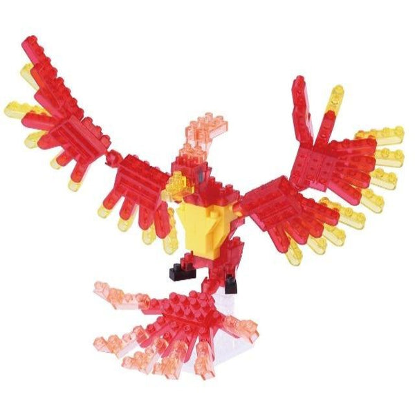 Nanoblock model of colorful phoenix