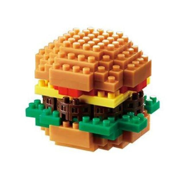 Nanoblock model of hamburger