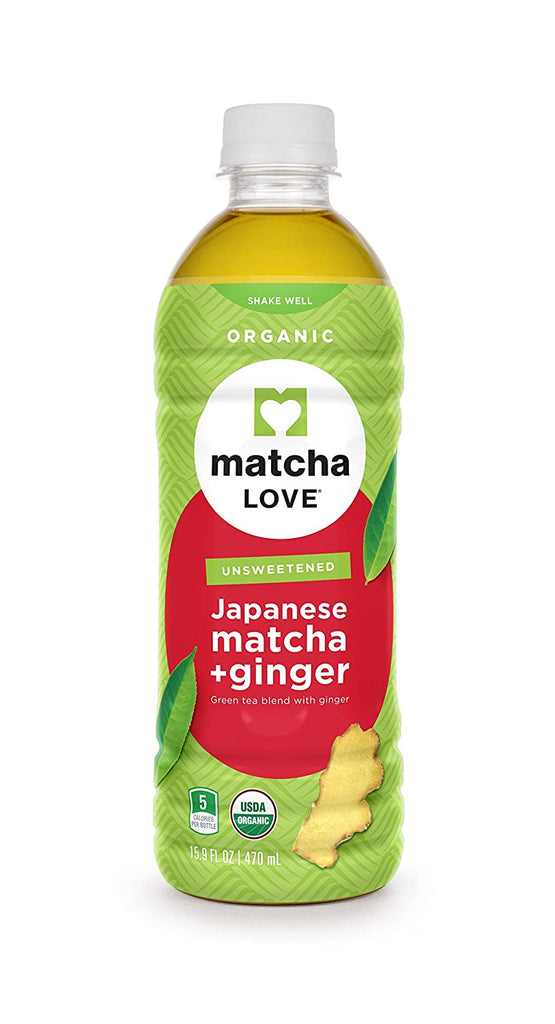 Matcha Love Unsweetend Japanese Matcha + Ginger Green Tea