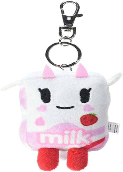 Strawberry Milk Plush Keychain