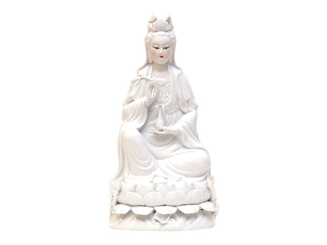 White Porcelain Sitting Guan Yin