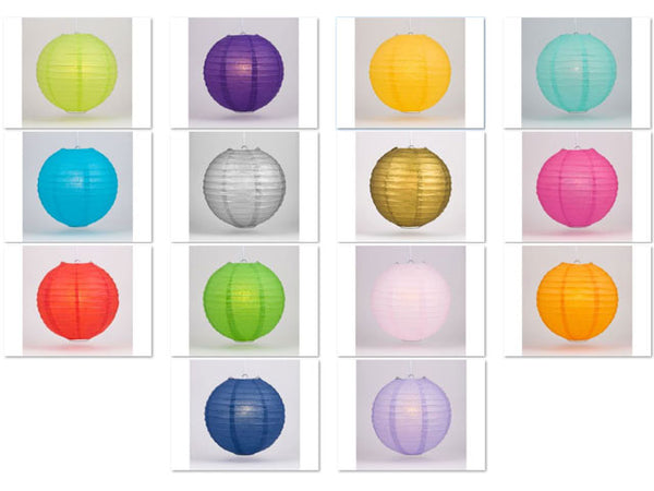Multiple Colors Wire Frame Spherical Paper Lantern