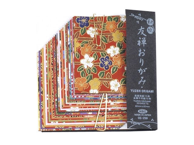Yuzen Chiyogami Floral Pattern Origami Paper 3 X 3 Pearl