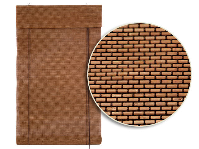 Brown Thread Bamboo Blinds with Valance