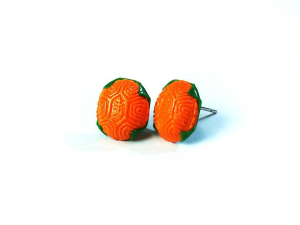 Red tortoise cake earrings