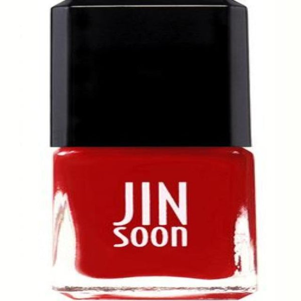 JINsoon Ardor Nail Polish -- pink-infused red