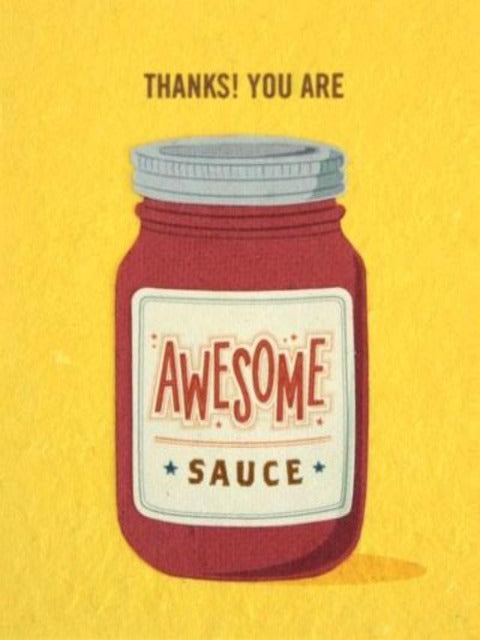 Handcrafted Cards: Awesome Sauce