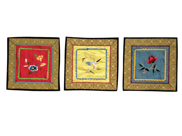 Hand Embroidered Silk Place-Mat / Applique