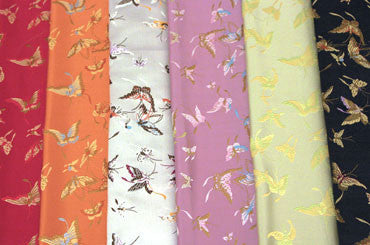 Silk / Rayon Butterfly Brocade Fabric