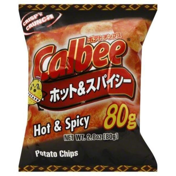 Calbee hot and spicy chips