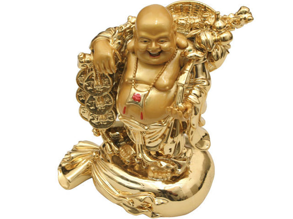 Golden Laughing Buddha Statue