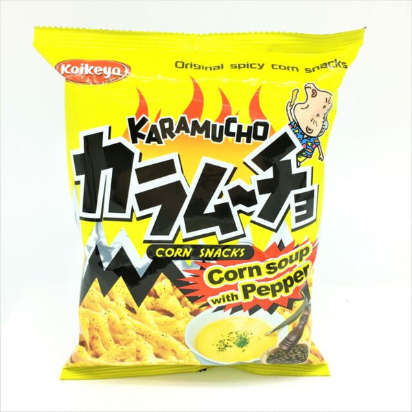 Bag of Karamucho Corn Snacks Corn Soup with Pepper