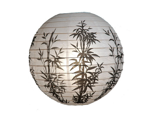 Bamboo Print Paper Lantern (BK) 16 in. - Out of Stock