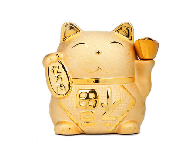 Golden Happy Cat Coin Bank