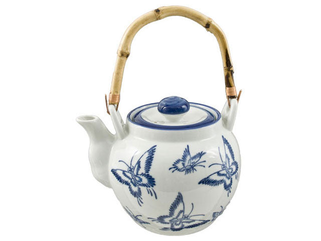 Blue on White Ceramic Teapot