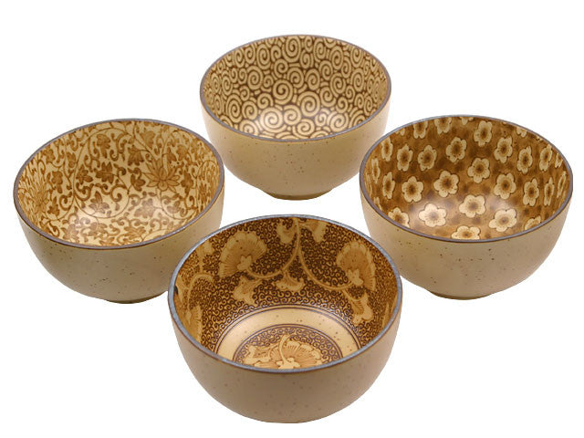 Antique Brown Sepia Series Bowl Set - 5in.