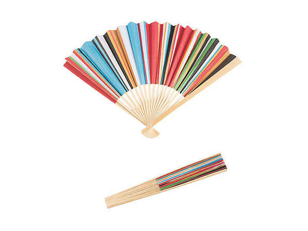 Fiesta Colors Folding Hand Fan ( Out of Stock )