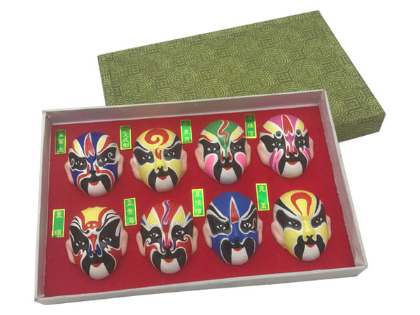 Mini Size Peking Opera Color Face Painting Sculpture Display