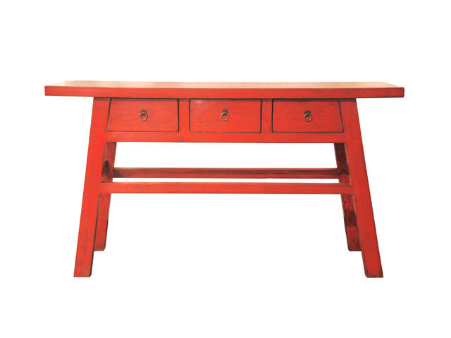 Chinese 3 Drawer Console