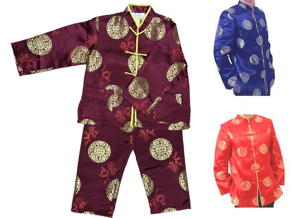 Boys  Long Slv. Rayon Brocade Outfit