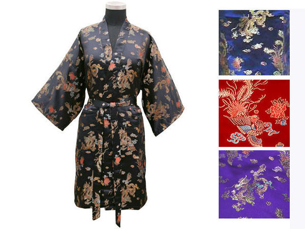 Dragon Phoenix Brocade Robe - Thigh Length