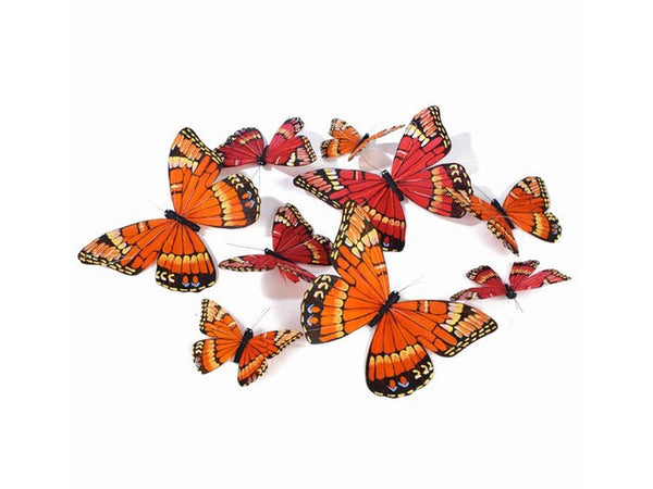 Monarch Feather Various Sizes Butterfly Garland