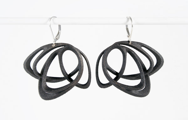 Jenny Wu Lace Gemino Light Black Earrings