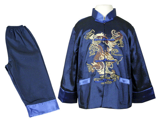 Boys Dragon Embroidered Long Sleeve Outfit