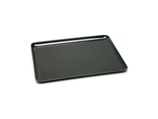 "Rectangular Plastic Lacquer Tray - 16"" x 12.25"" Rounded Corner"