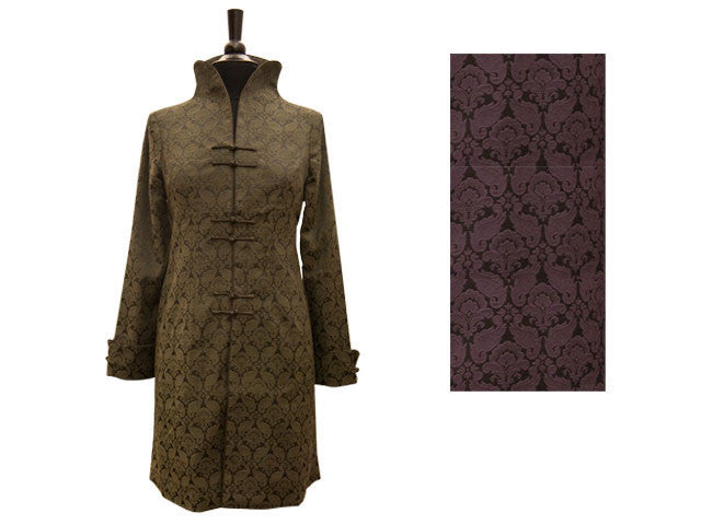 Embossed Long Sleeve Trench Coat